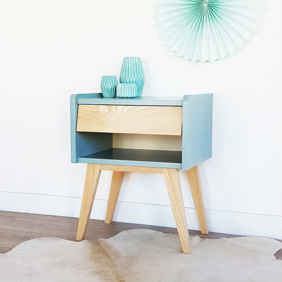Meuble Tv Design Suedois Table De Chevet Style Scandinave - Infini Photo