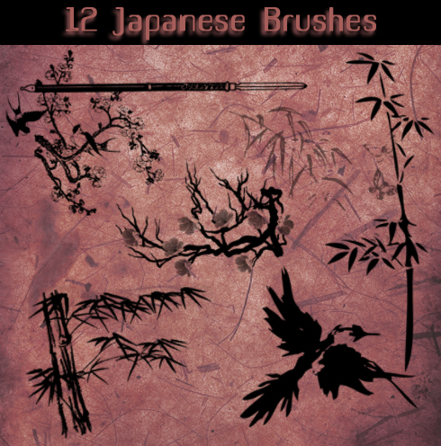 Japanese_Brushes_by_Aidoku