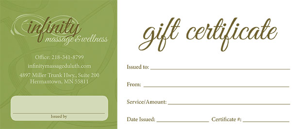 Printable Massage Gift Certificate Template Application Letter