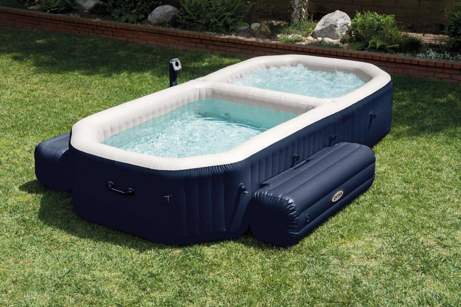 Jacuzzi Pool Deluxe Intex Purespa Bubble Hot Tub And Pool Set Review Best