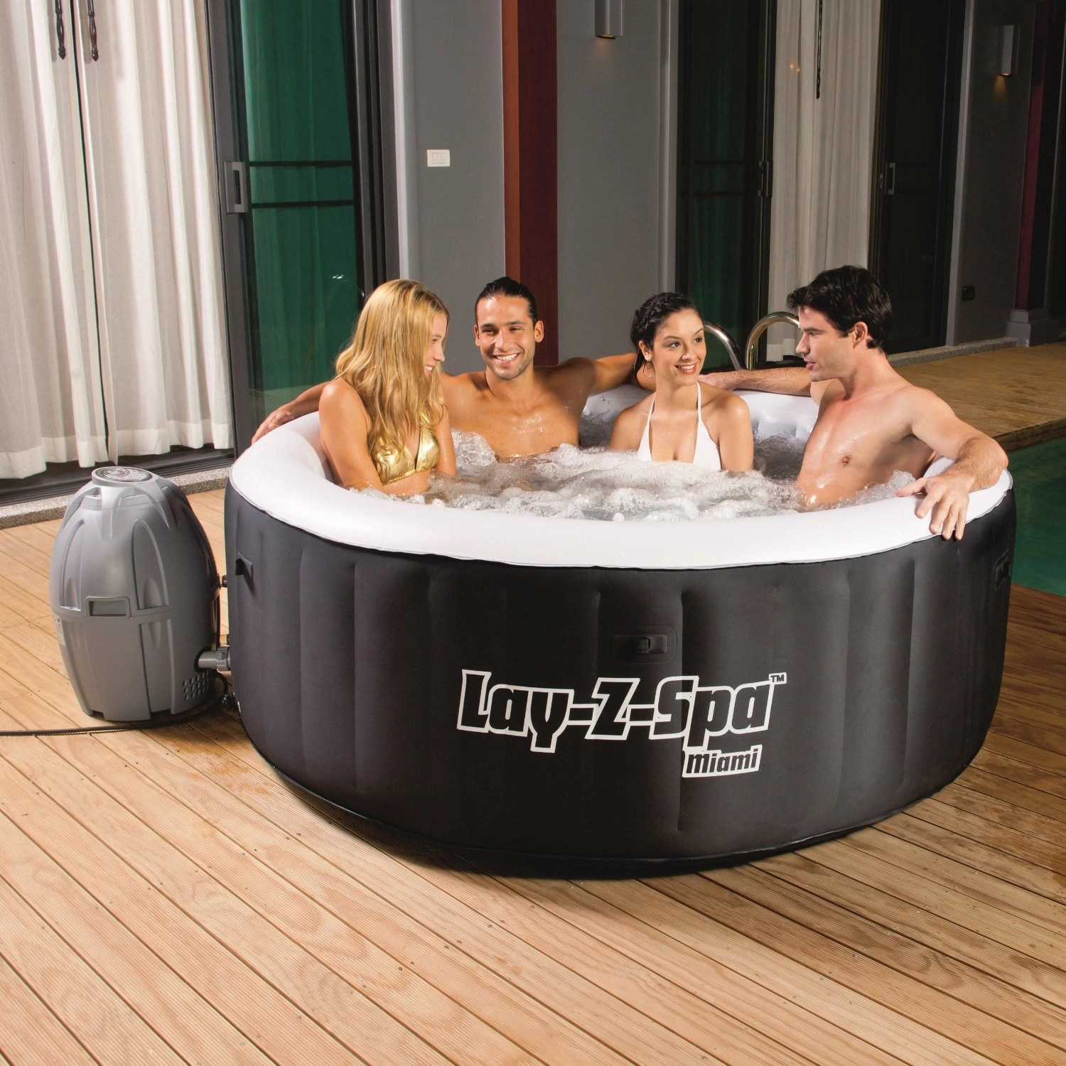 Bestway Pools Lazy Spa Saluspa Miami Review Good Affordable Hot Tub For 2018