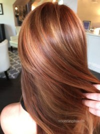 15 Photo of Long Hairstyles Red Highlights