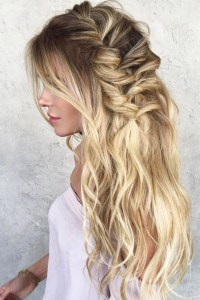 casual long hair wedding hairstyles 15 photo of long ...
