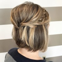 15 Inspirations of Half Updo Hairstyles For Short Hair