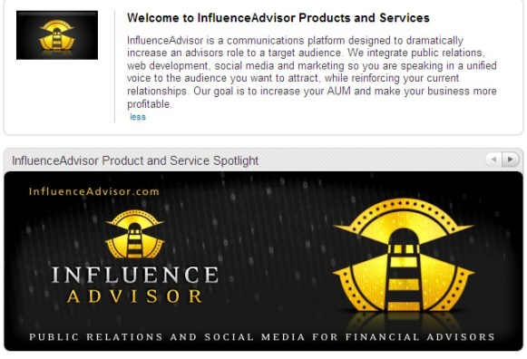 InfluenceAdvisor LinkedIn Services