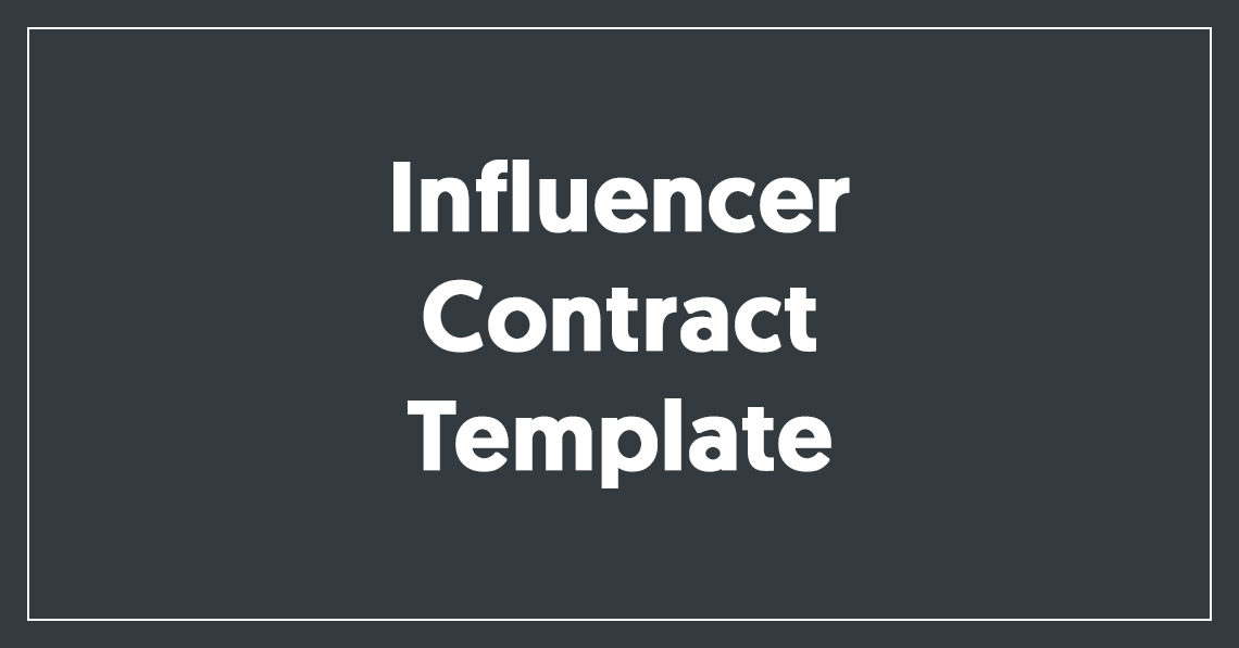Influencer Contract Template Free Download