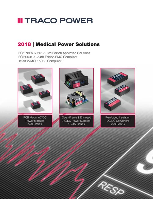 16 Page Catalog Design for Medical Power Supplies