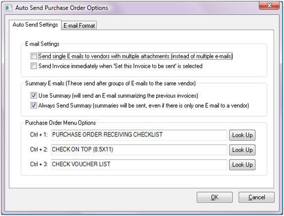 Auto Sending Purchase Orders
