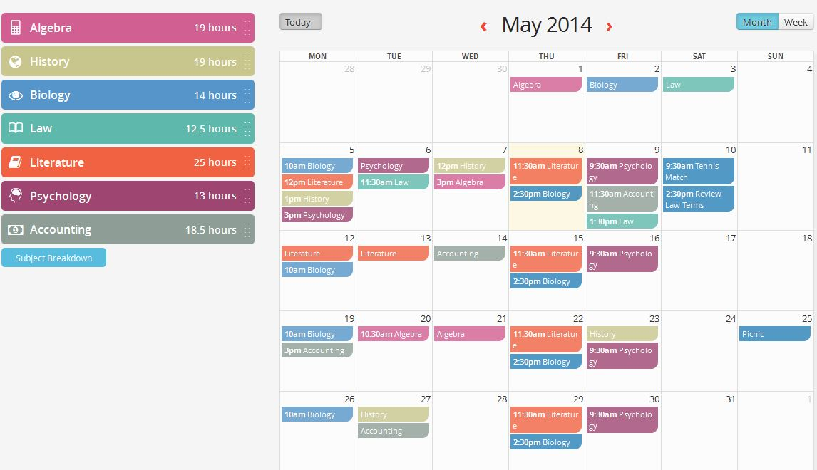 Leaving Cert Timetable Keep You On-Track GoConqr - study timetable