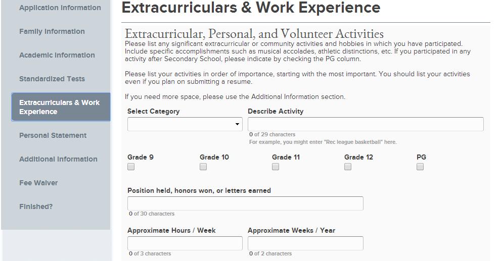 extracurricular activities resume tips