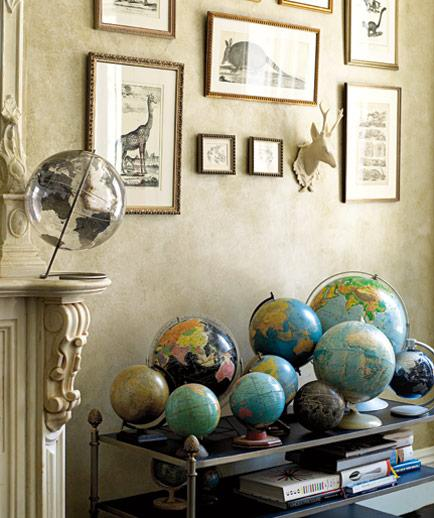 Globe Collection on Display