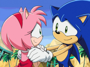 Blue Eyes Song Girl Wallpaper Amy On The Beach Sonic Retro