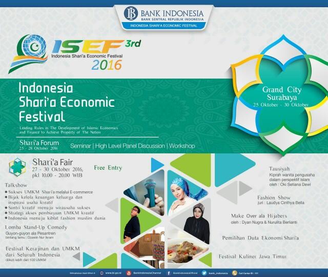 Dorong Ekonomi Syariah, BI Selenggarakan ISEF 2016