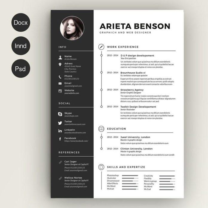 Business infographic  Clean Cv-Resume by estart on Creative Market
