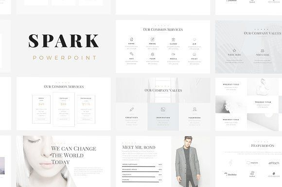 Business infographic  Spark Minimal PowerPoint Template by SlidePro - market template