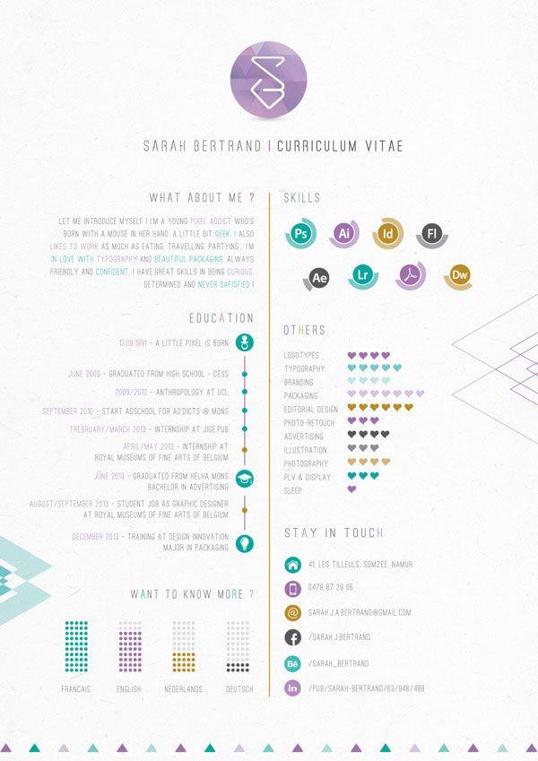 Business infographic  40 Creative CV Resume Designs Inspiration