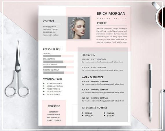 template cv gratuit design