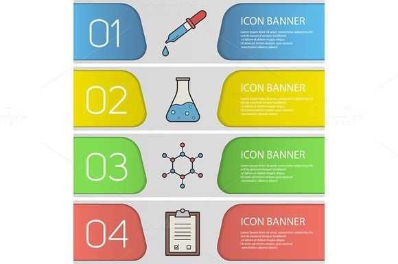 Medical infographic  Laboratory banner templates Vector Graphic