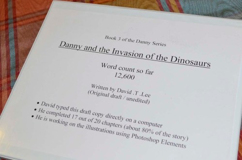 Danny and the Invasion of the Dinosaurs manuscript (by David T. Lee)