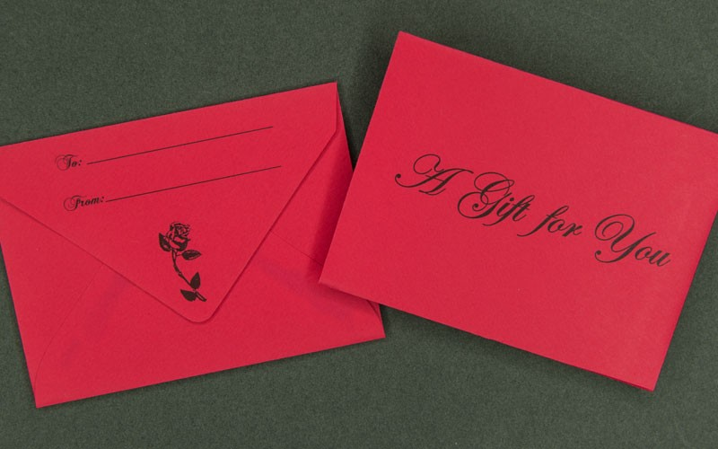 Information Packaging - Red Gift Card Envelope - A Gift For You