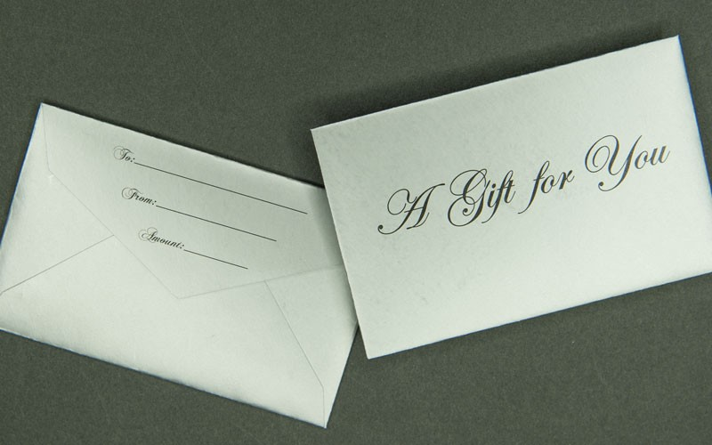 Information Packaging - Silver Mini Gift Card Envelope - A Gift For You