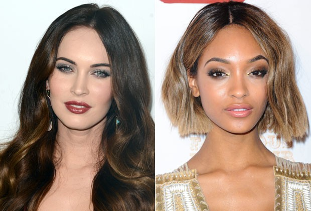 Jourdan Dunn e Megan Fox têm o rosto oval, que é mais comprido do que largo (Foto: Getty Images)