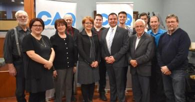 Élections provinciales : Vincent Caron présente son « équipe du changement »