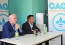 François Paradis rend une deuxième visite à Vincent Caron, candidat de la CAQ