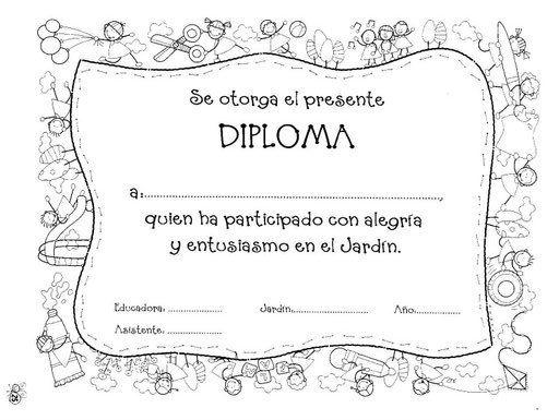 Diplomas escolares Infantiles para Niños para imprimir y descargar