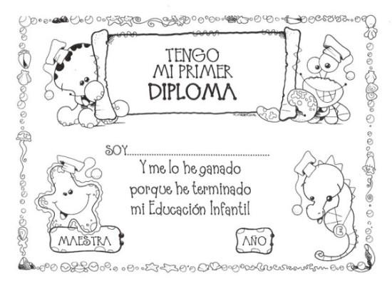 Diplomas escolares Infantiles para Niños para imprimir y descargar - certificado de reconocimiento para imprimir
