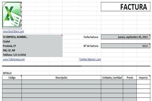 formato para factura en excel - Ukransoochi