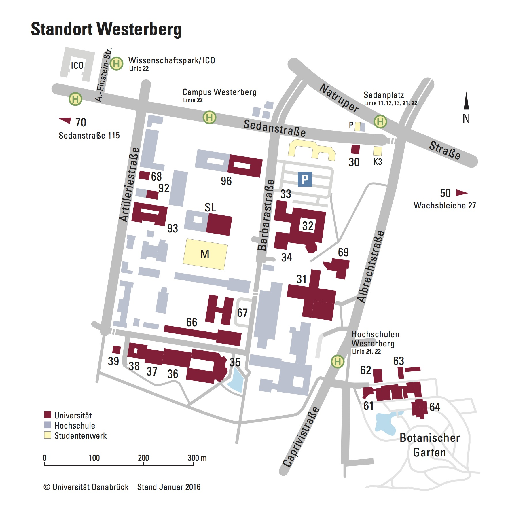 Osnabrück Maps Travel Information And Map Osnabrück University