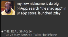shaq app Shaq Has His Own App
