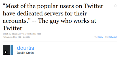 twitter server Dedicated Servers For Big Twitter Peeps