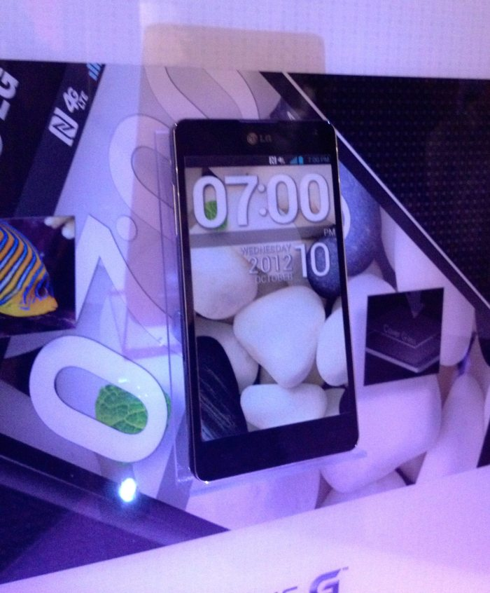 LG LTE Optimus G smartphone launch party