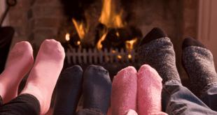 warm house fireplace