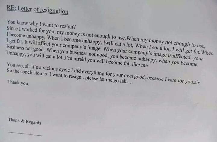 31 Most Funny Resignation Letters and Videos That Will Make You Quit