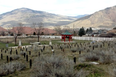Looking northeast from the Chinese Cemetery in Kamloops.