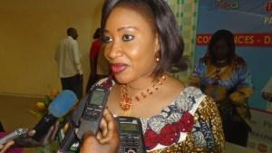 La présidente du comité d'organisation du SINEA, Alice Diarra
