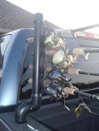 How to Make a Truck Bed Fishing Rod Holder  Info You ...