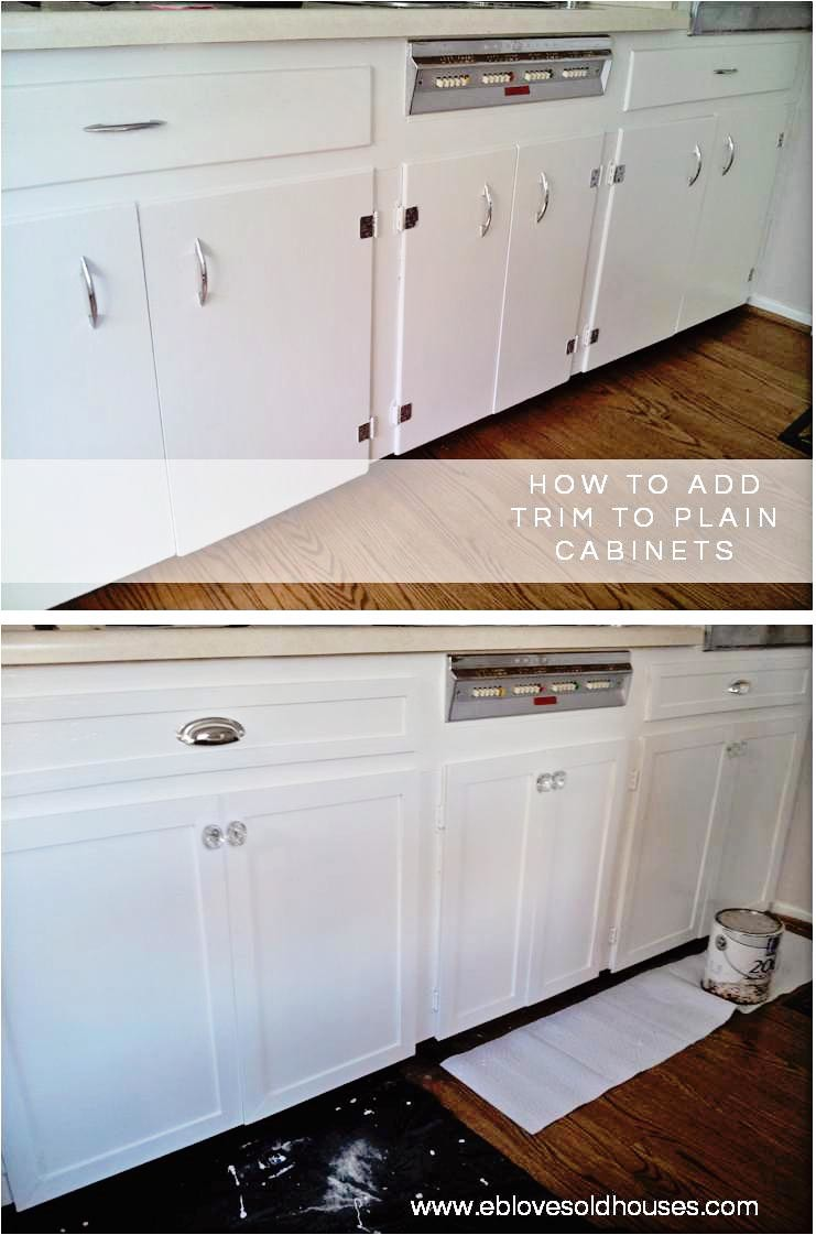 How To Add Trim To Plain Kitchen Cabinets