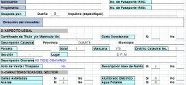 Plantilla Excel – Informe de Tasación