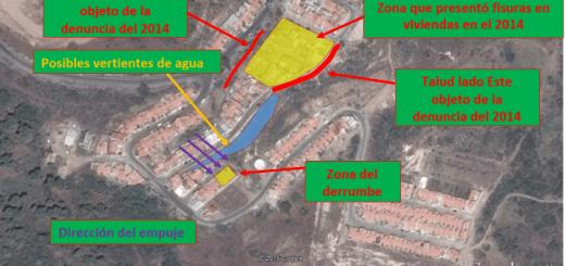 Análisis derrumbe de muro en Cerro Grande