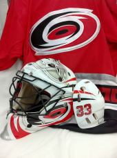 Brian Boucher Carolina Goalie Mask by Drummond Custom Airbrush