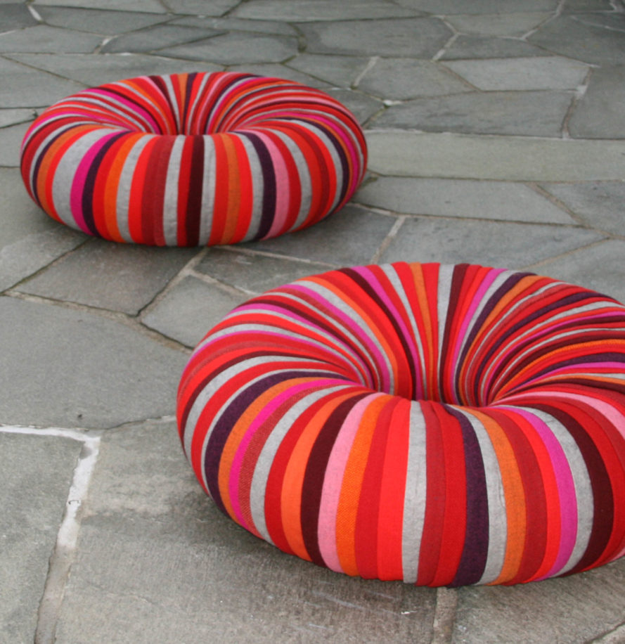 Pouf Exterieur Made Reader Tip Colorful Drops Pouf Seating Made Of Recycled