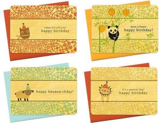 Eco-Friendly Children\u0027s Birthday Cards from Night Owl Paper Goods