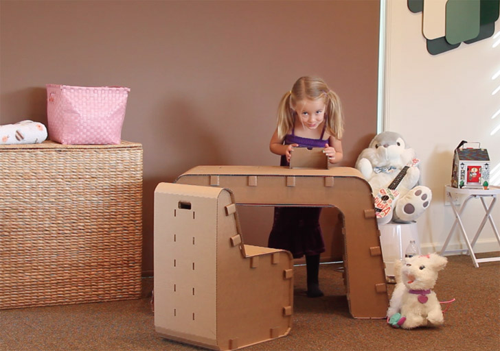 Kids Can Design Their Work Space With The Cardboard Guys