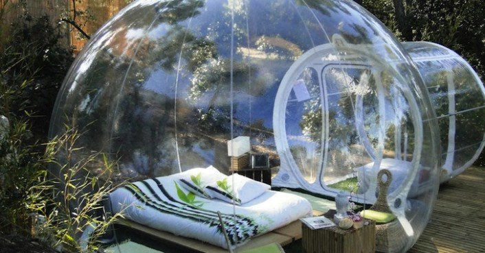 Attrap Reves Attrap'rêves Bubble Hotel Is Made Of Bubbletree's