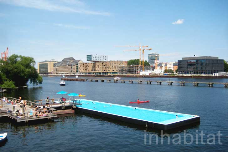 Pools In Berlin Berlin's Floating Arena Badeschiff Swimming Pool Is The