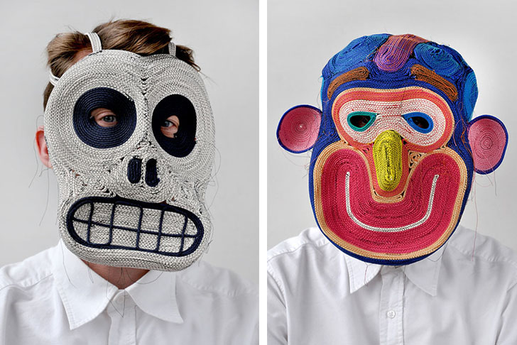 Bertjan Pot\u0027s Rope Masks Are Both Beautiful and Terrifying